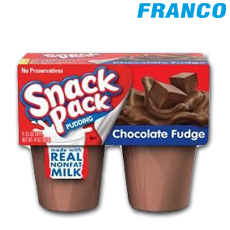 SNACK PACK PUDDING CHOCOLATE FUDGE FOURPACK PQ