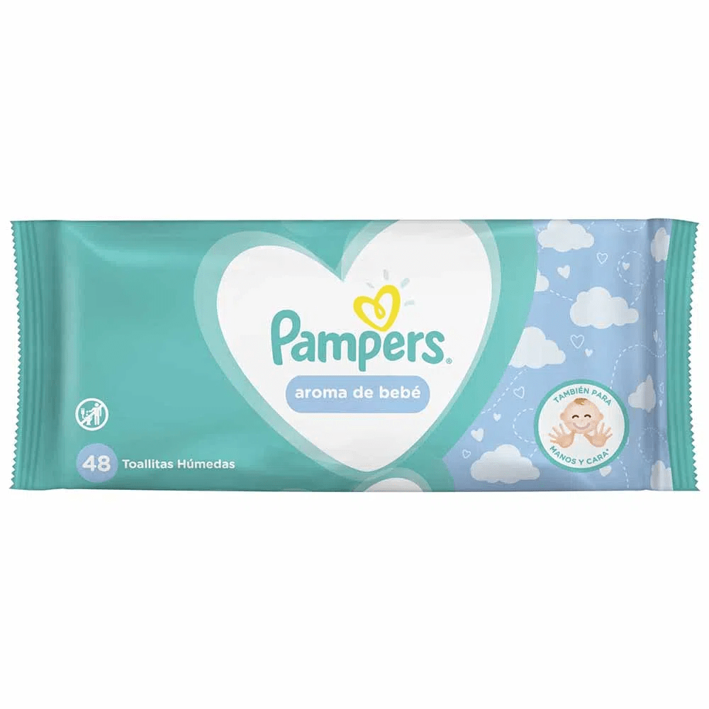 PAMPERS TOALLITAS HUMEDAS AROMA NATURAL X 48 UND