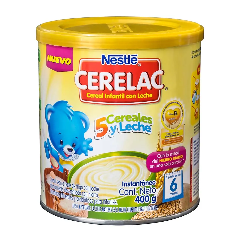 NESTLE CERELAC 5 CEREALES LATA X400GR