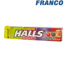 HALLS FRUIT MIX BARRA X 25.2 GR.