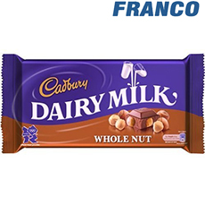 CADBURY DAIRY MILK WHOLENUT CHOCOLATE X200G