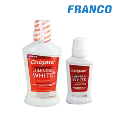 COLGATE ENJ.BUCAL LUMINOUS WHITEX500 + 250ML