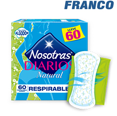 NOSOTRAS DIARIOS NATURAL RESPIRABLE X60UND