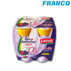 LAIVE ALIMEN.LAC.FER BIO DEFENSA FRESA FRAMBUESA LIGHT X 4 UN FOUR PACK