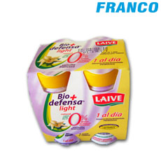 LAIVE ALIMEN.LACT.FER. BIO DEFENSA SABOR VAINILLA LIGHT X 4 UN FOUR PACK