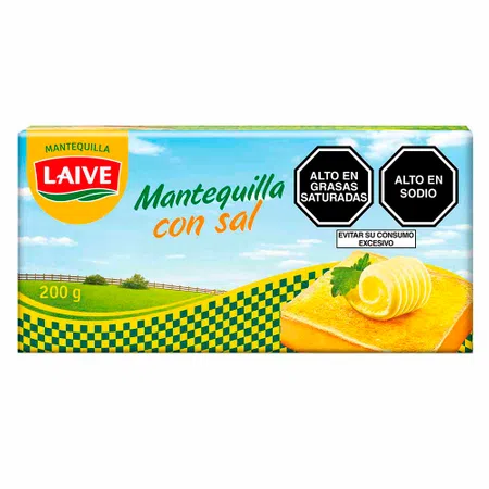 LAIVE MANTEQUILLA CON SAL X 200 GR BARRA