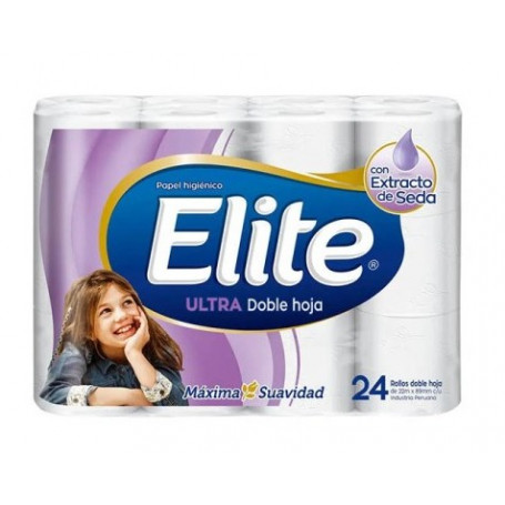 ELITE ULTRA DOBLE HOJA PAPEL HIGIENICO X24PZ