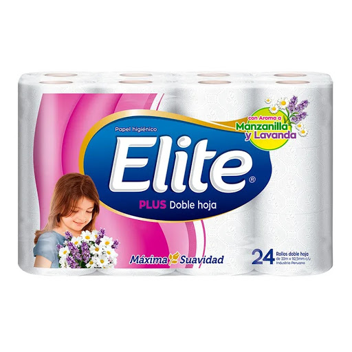 ELITE PLUS DOBLE HOJA PAPEL HIGIENICO X 24-2019