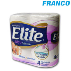ELITE ULTRA DOBLE HOJA PAPEL HIGIENICO X4PZ