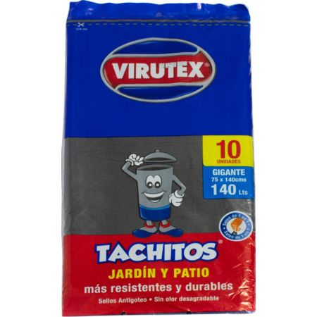 VIRUTEX TACHITOS BOLSA BASURA X140LT10UND