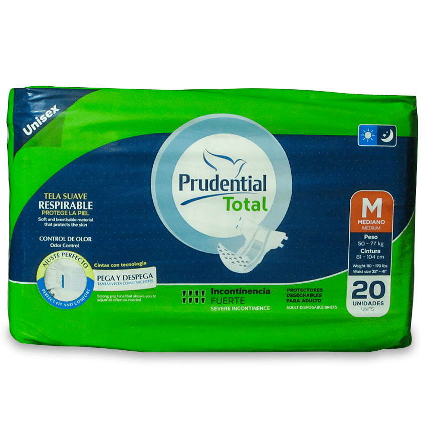 PRUDENTIAL TOTAL PAÑAL P/ADULTO M-20 UND