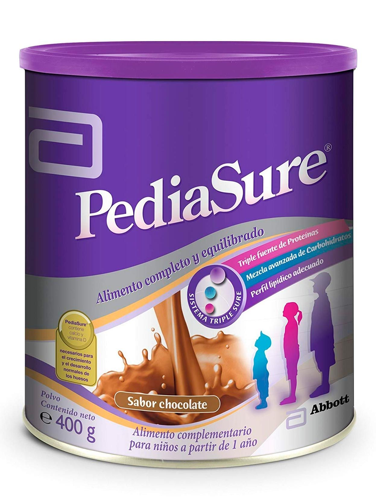 PEDIASURE TRIPLESURE CHOCOLATE X 400GR.